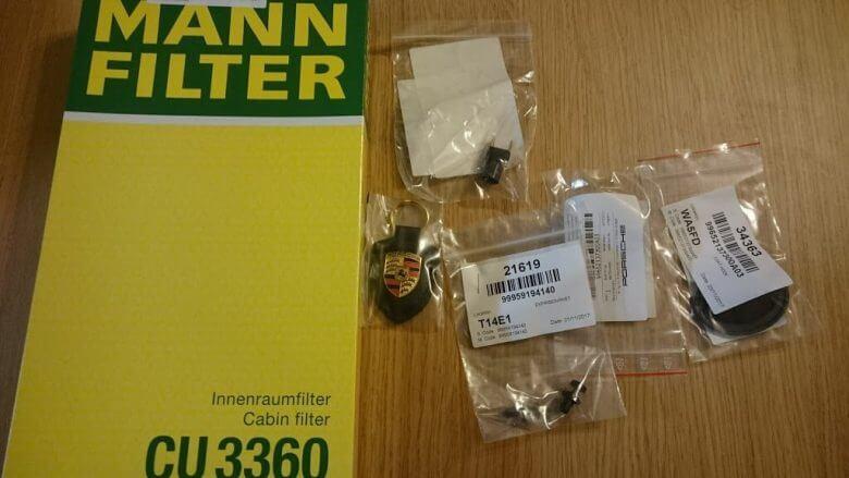 ポルシェ 986 ボクスターSのエアコンフィルター交換