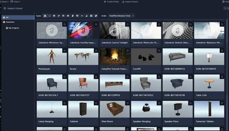 実践amazon sumerian チュートリアル ラジコン ドローン を作る VR ゲーム製作の基礎に